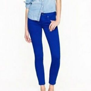 J CREW Royal Blue Toothpick Ankle Jeans Sz 24